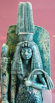 Queen Tiye wearing the crown of Amen