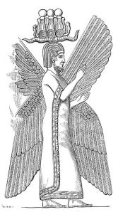 Symbol of Cyrus the Great with horns.