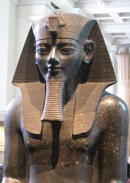 Colossal statue of Amenhotep III in the British Museum