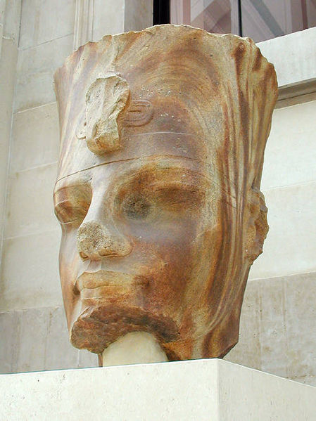 quartzite head of amenhotep iii