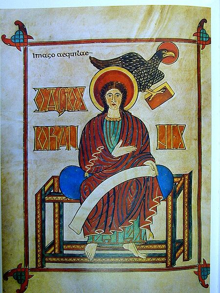 Lindusfarne Gospels John The Evangelist