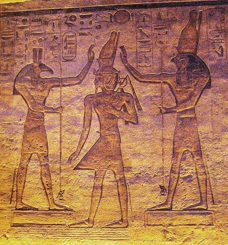 Seth and Horus adoring RamssesII
