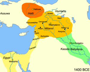 Map of the near east circa 1400 BCE
