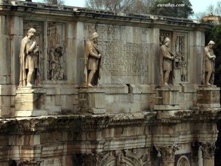 Gaullic Warriors(with Mithric caps) atop Constantines Triumphal Arch
