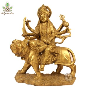 War Goddess Durga riding her lion.