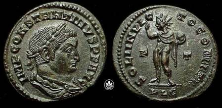 Emperor Constantine I depicting Sol Invictus
