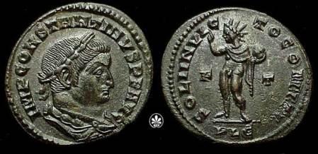 Emperor Constantine I depicting Sol Invictus