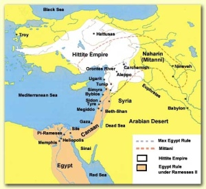 Ramoses II has his power bases in the Nile Delta(Lower or North Egypt)