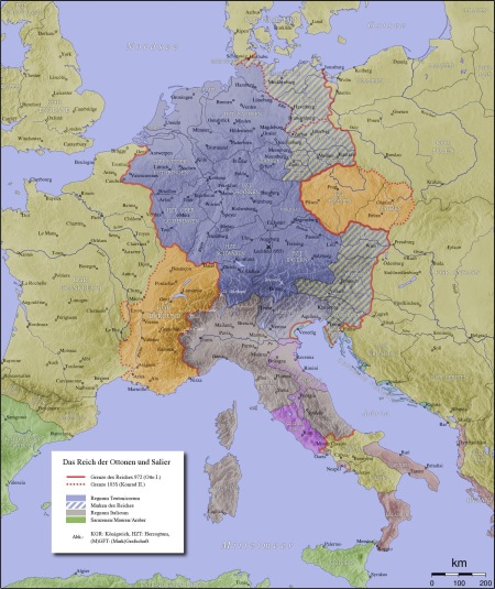 The Holy Roman Empire in 1000AD