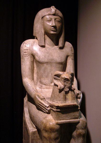 Seti II with Amen (Ram headed)  Khepri-Set