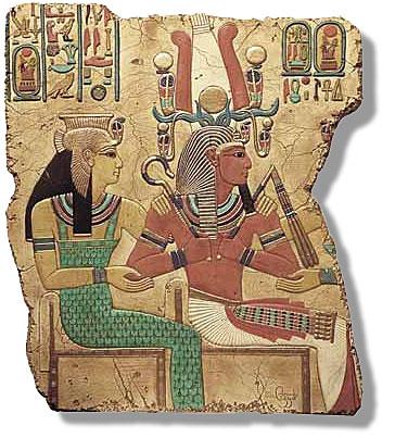 Seti I horned as Pharoah