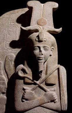 Setnakht Horned as Pharoah
