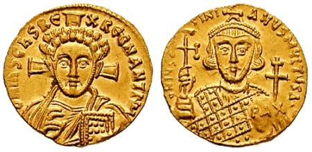 Solidus-Justinian_II-Christ_b-sb1413