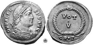 Valens Constantinople coin