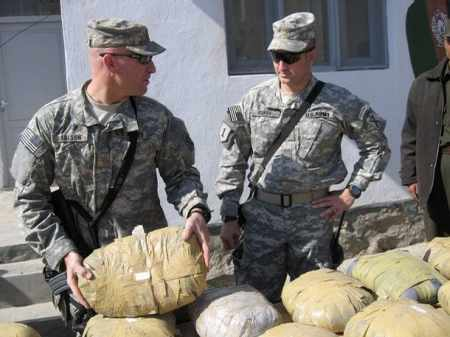 U.S. Army delivering the Afghanistan Opium