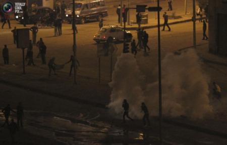 Protestors hold the centre of Ciaro