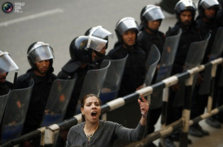 Egyptian Women voice thier protests