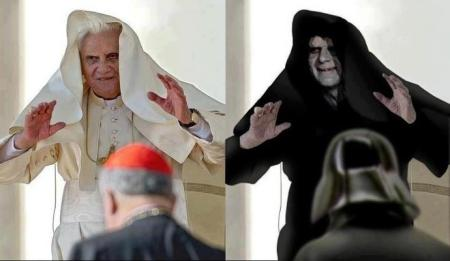 The POPE joins the dark side