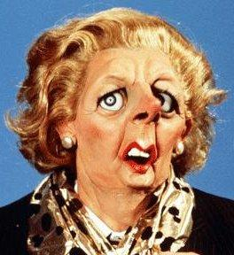 the Spitting image of Thatcher