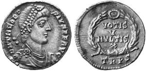 Tier coin c380AD .Sol Invictus clearly stamped